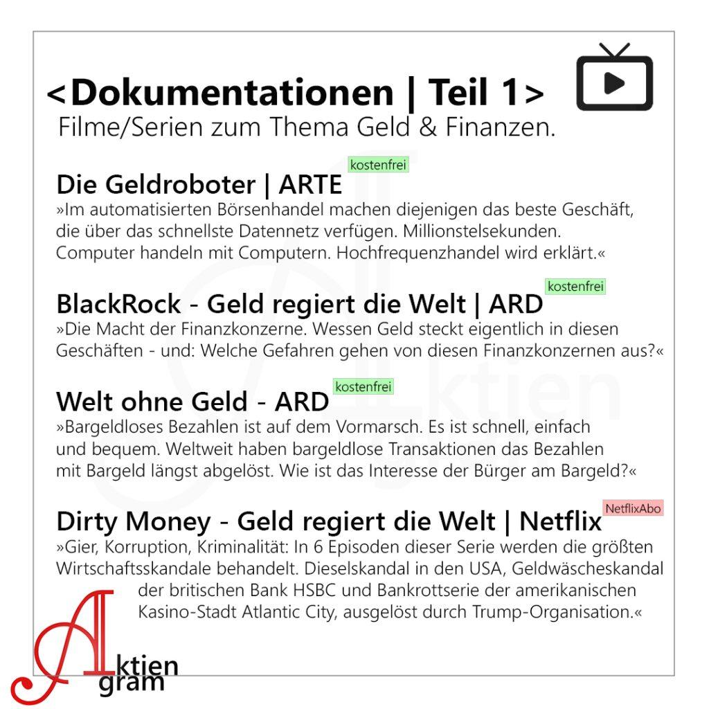Dokumentationen (kostenlose und kostenpflichtige) zum den Themen Wirtschaft, Geld und Finanzen.